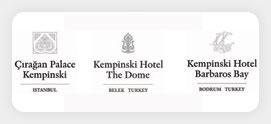 Kempinski Hotels, Istanbul,Antalya,Bodrum